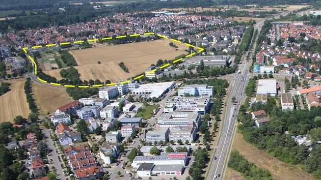 Luftbild mit Plangebiet
