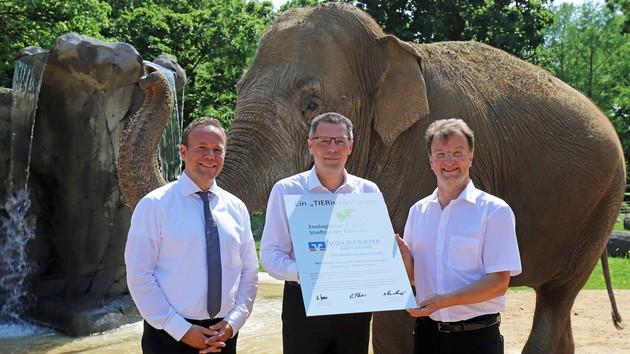 Volksbank Karlsruhe und Zoo bleiben Partner