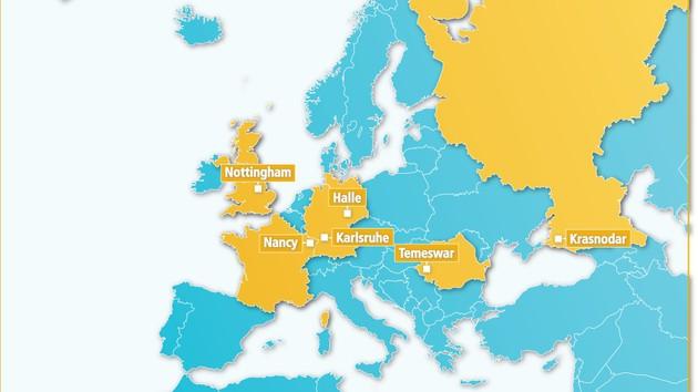 Karte Städtepartnerschaften