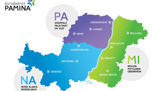Karte PAMINA Raum