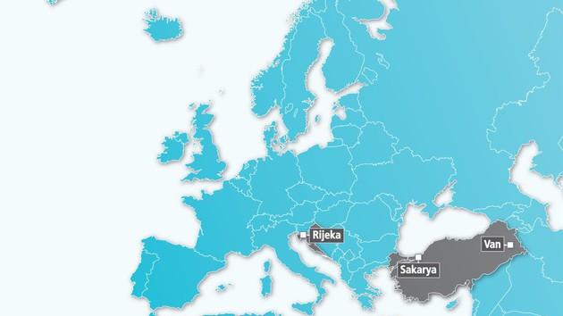 Karte Projektpartnerschaften